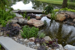 Pond & Retainer Wall