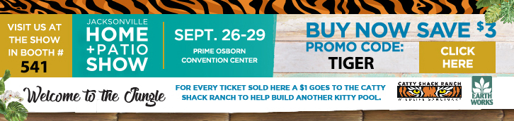 Jacksonville Home & Patio. Visit us this year Sept. 26-29 at the Prime Osborn Convention Center Booth 541.